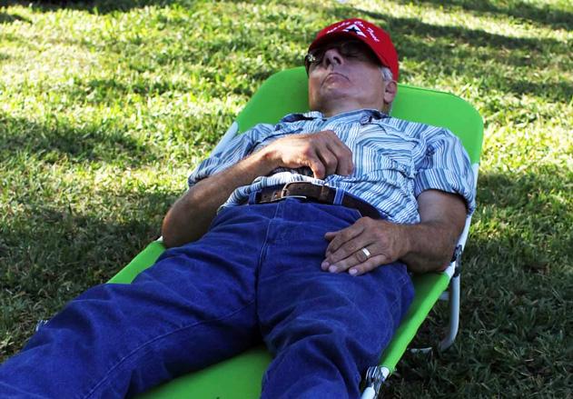 Tom asleep